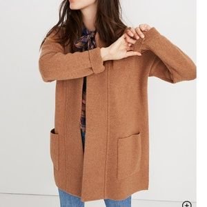 Madewell Brown Spencer Sweater-Coat Wool Blend